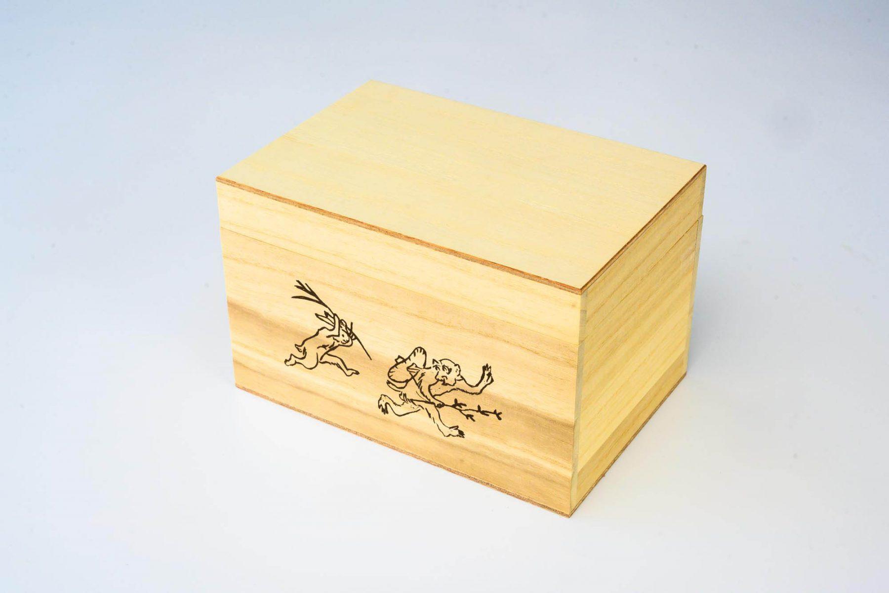 雅柳様「鳥獣戯画桐箱入煎茶」お茶箱